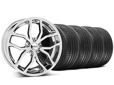 Foose Outcast Chrome Wheel & Sumitomo Tire Kit - 20x8.5 (05-14)