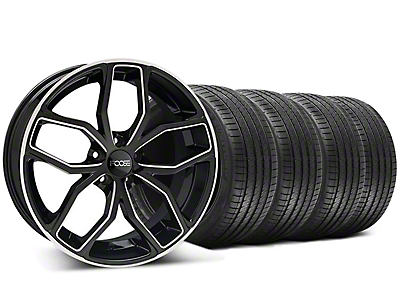 Black Machined Foose Outcast Wheel & Sumitomo Tire Kit - 20x8.5 (05-14)