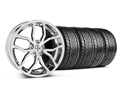 Foose Outcast Chrome Wheel & NITTO Tire Kit - 20x8.5 (05-14 All)