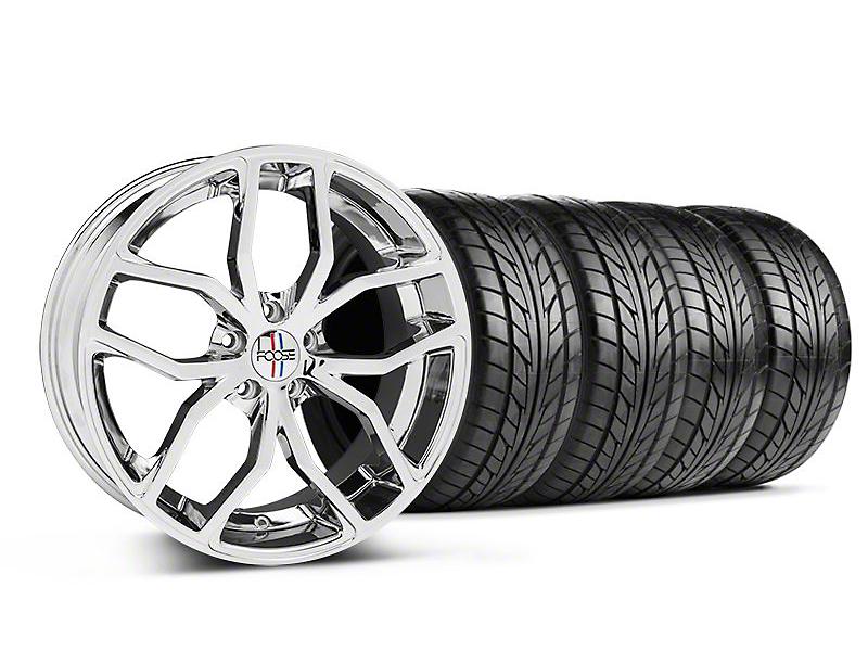 Foose Outcast Chrome Wheel & NITTO Tire Kit - 20x8.5 (05-14 All)