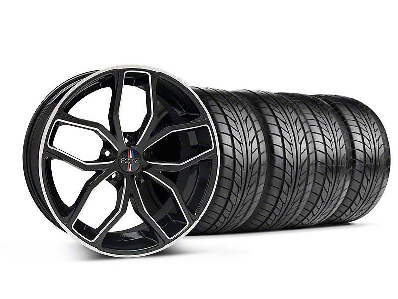 Foose Outcast Black Machined Wheel & NITTO Tire Kit - 20x8.5 (05-14 All)