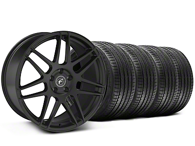 Matte Black Forgestar F14 Monoblock Wheel & Sumitomo Tire Kit - 20x9 (05-14 All)