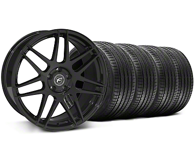 Piano Black Forgestar F14 Monoblock Wheel & Sumitomo Tire Kit - 20x9 (05-14 All)