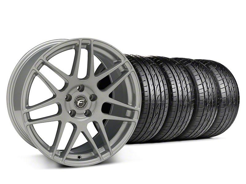 Forgestar F14 Monoblock Silver Wheel & Sumitomo Tire Kit - 19x9 (05-14 All)