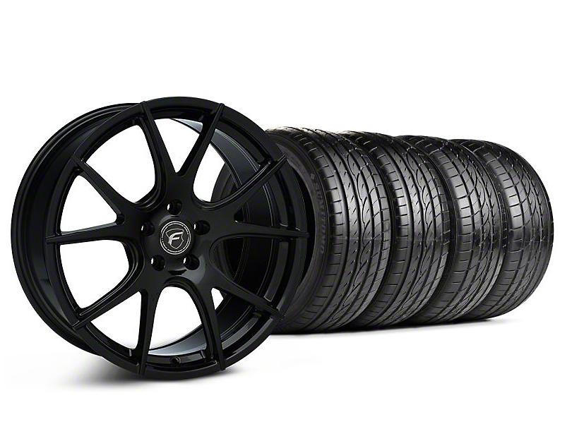 Forgestar CF5V Monoblock Piano Black Wheel & Sumitomo Tire Kit - 19x9 (05-14 All)