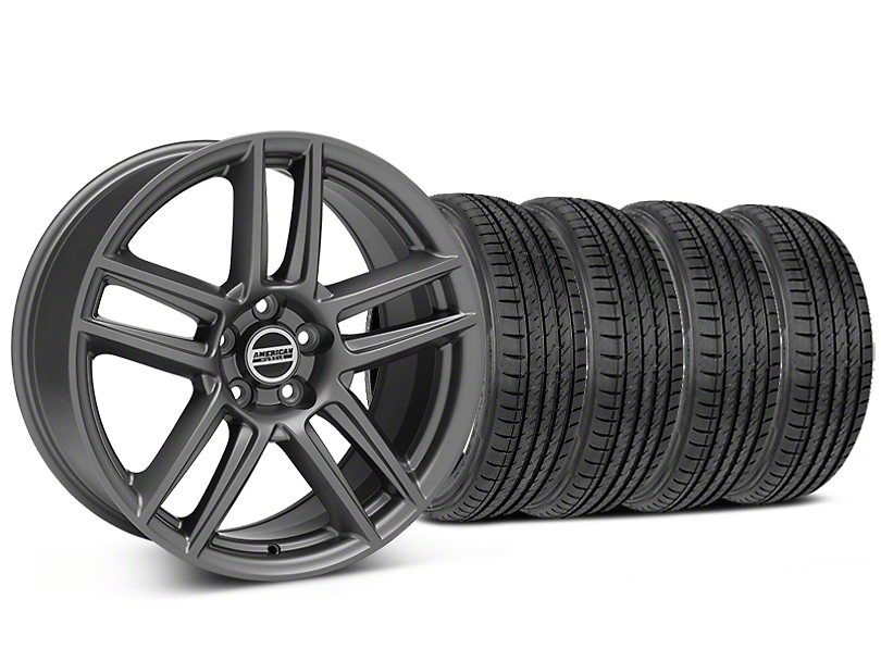 Laguna Seca Style Charcoal Wheel & Sumitomo Tire Kit - 19x9 (05-14 All)
