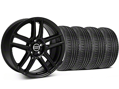 Boss Laguna Seca Black Wheel & Sumitomo Tire Kit - 19x9 (05-14 All)