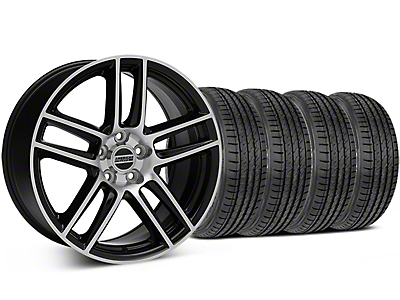 Boss Laguna Seca Black Machined Wheel & Sumitomo Tire Kit - 19x9 (05-14 All)