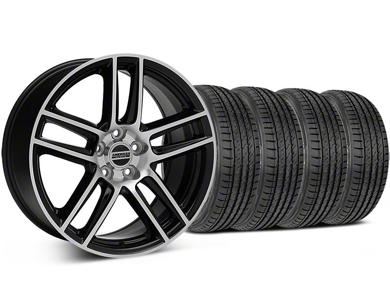 Laguna Seca Style Black Machined Wheel & Sumitomo Tire Kit - 19x9 (05-14 All)