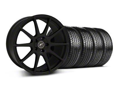 Forgestar CF10 Monoblock Textured Black Wheel & Pirelli Tire Kit - 19x9 (05-14 All)