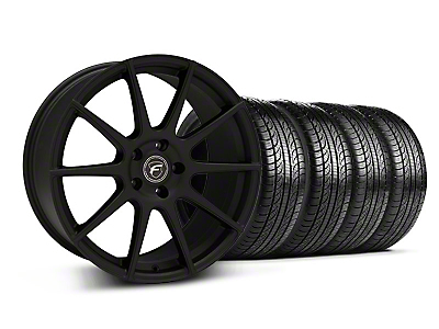 Textured Black Forgestar CF10 Monoblock Wheel & Pirelli Tire Kit - 19x9 (05-14 All)