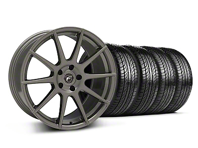 Gunmetal Forgestar CF10 Monoblock Wheel & Pirelli Tire Kit - 19x9 (05-14 All)