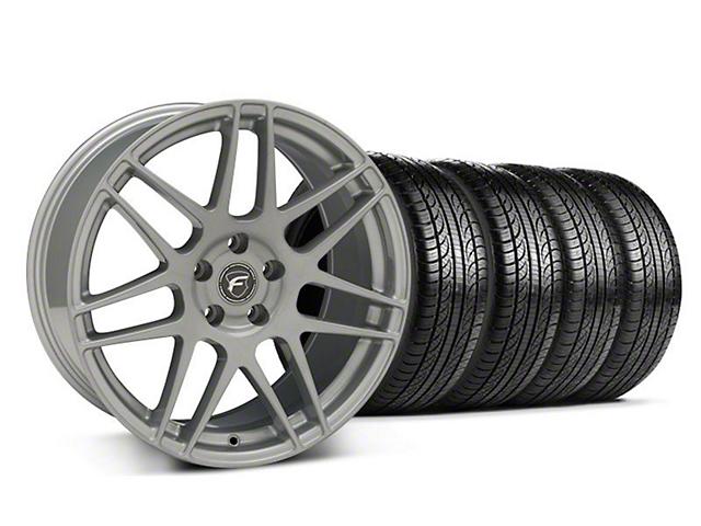 Forgestar F14 Monoblock Silver Wheel & Pirelli Tire Kit - 19x9 (05-14 All)