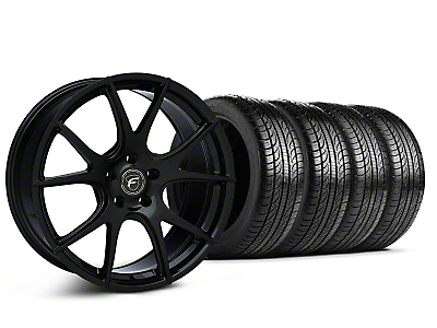 Piano Black Forgestar CF5V Monoblock Wheel & Pirelli Tire Kit - 19x9 (05-14 All)