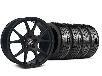 Matte Black Forgestar CF5V Monoblock Wheel & Pirelli Tire Kit - 19x9 (05-14 All)