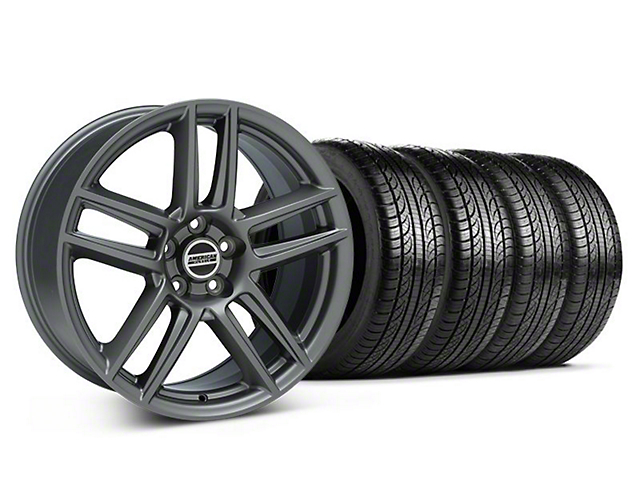 Laguna Seca Style Charcoal Wheel & Pirelli Tire Kit - 19x9 (05-14 All)