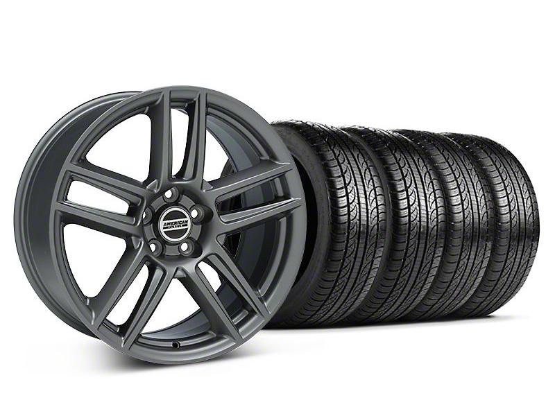 Laguna Seca Style Charcoal Wheel & Pirelli Tire Kit - 19x9 (05-14 All)