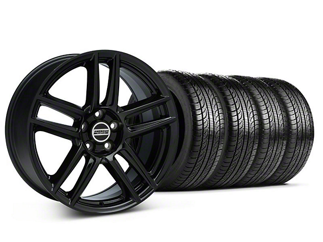 Laguna Seca Style Black Wheel & Pirelli Tire Kit - 19x9 (05-14 All)
