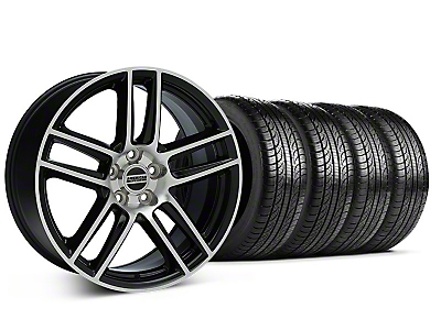 Boss Laguna Seca Black Machined Wheel & Pirelli Tire Kit - 19x9 (05-14 All)