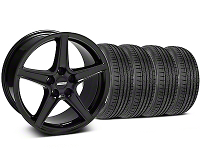 Saleen Black Wheel & Sumitomo Tire Kit - 19x8.5 (05-14 GT, V6)