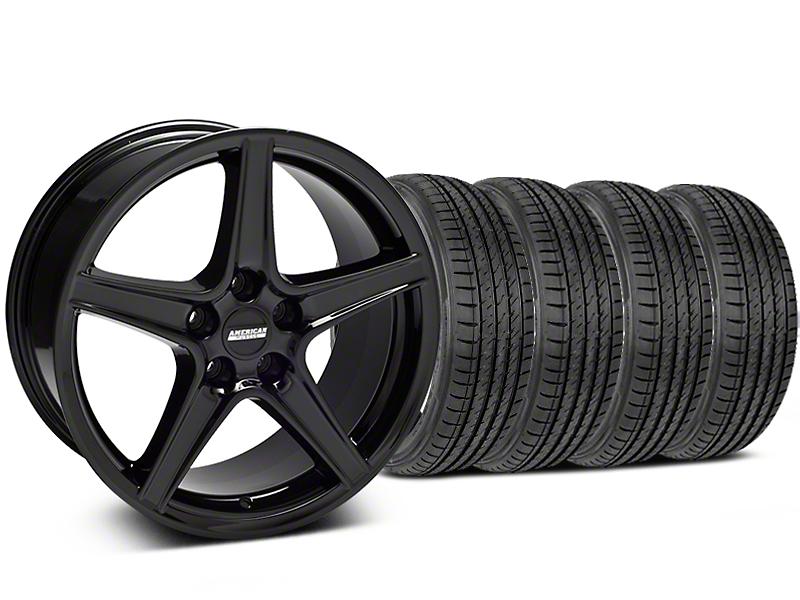 Saleen Style Black Wheel & Sumitomo Tire Kit - 19x8.5 (05-14 GT, V6)