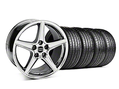 Saleen Chrome Wheel & Sumitomo Tire Kit - 19x8.5 (05-14 GT, V6)