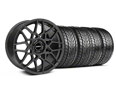 Staggered 2013 GT500 Charcoal Wheel & NITTO Tire Kit - 18x9/10 (05-14 All)