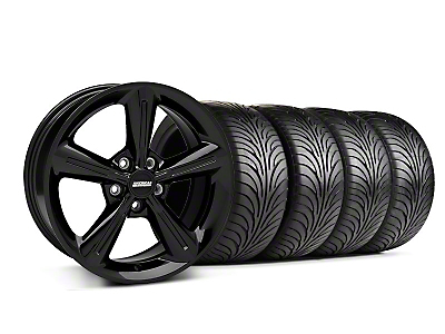 Staggered 2010 OE Style Black Wheel & Sumitomo Tire Kit - 18x8/10 (05-14)