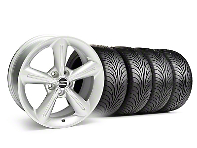 Staggered 2010 OE Style Silver Wheel & Sumitomo Tire Kit - 18x8/10 (05-14)