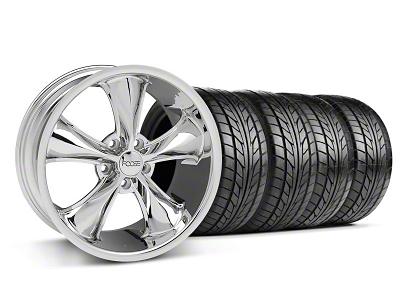 Foose Staggered Legend Chrome Wheel & NITTO Tire Kit - 18x8.5/9.5 (05-09 GT, V6)