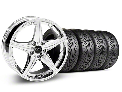 Foose Staggered Speed Chrome Wheel & Sumitomo Tire Kit - 18x8/9.5 (05-14 All, Excluding GT500)