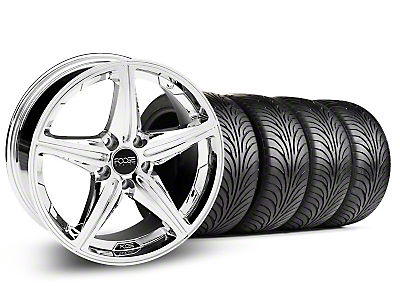Staggered Chrome Foose Speed Wheel & Sumitomo Tire Kit - 18x8/9.5 (05-14 All, Excluding GT500)