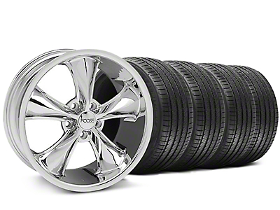 Foose Staggered Legend Chrome Wheel & Sumitomo Tire Kit - 18x8.5/9.5 (05-09 GT, V6)
