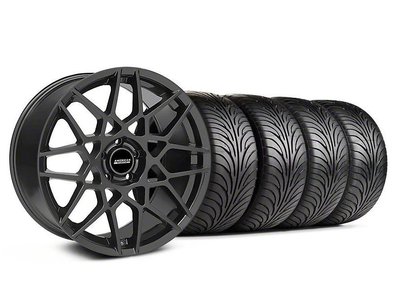 Staggered 2013 GT500 Style Charcoal Wheel & Sumitomo Tire Kit - 18x9/10 (05-14 All)