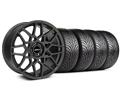 Staggered Charcoal 2013 GT500 Style Wheel & Sumitomo Tire Kit - 18x9/10 (05-14 All)