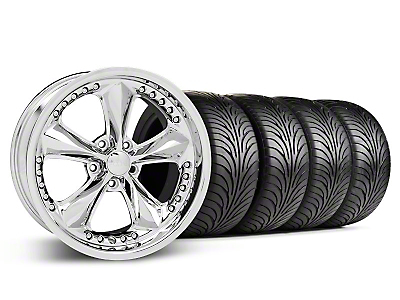 Staggered Foose Nitrous Chrome Wheel & Sumitomo Tire Kit - 18x9/10 (05-14 GT, V6)