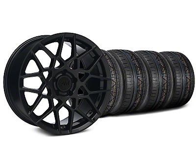 Staggered 2013 GT500 Gloss Black Wheel & NITTO INVO Tire Kit - 18x9/10 (05-14 All)