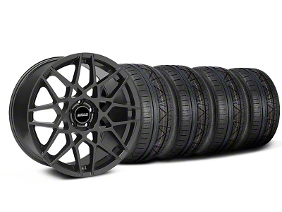 Staggered 2013 GT500 Style Charcoal Wheel & NITTO INVO Tire Kit - 18x9/10 (05-14)