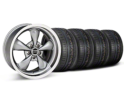 Staggered Anthracite Deep Dish Bullitt Mustang Wheel & NITTO INVO Tire Kit - 18x9/10 (05-14 All, Excluding GT500)