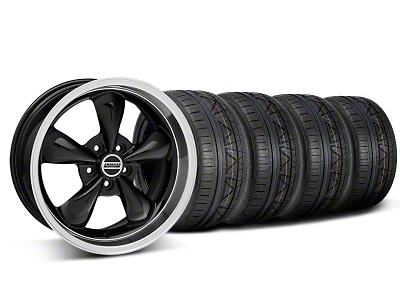 Staggered Deep Dish Bullitt Black Wheel & NITTO INVO Tire Kit - 18x9/10 (05-14 GT, V6)