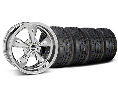 Staggered Deep Dish Bullitt Chrome Wheel & NITTO INVO Tire Kit - 18x9/10 (05-14 GT, V6)