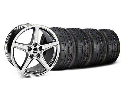 Staggered Saleen Chrome Wheel & NITTO INVO Tire Kit - 18x9/10 (05-14 All, Excluding GT500)