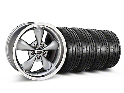 Staggered Deep Dish Bullitt Anthracite Wheel & Mickey Thompson Tire Kit - 18x9/10 (05-14 All, Excluding GT500)