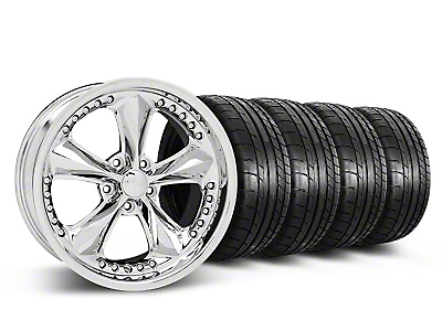 Staggered Foose Nitrous Chrome Wheel & Mickey Thompson Tire Kit - 18x9/10 (05-14 GT, V6)