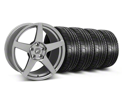 Forgestar Staggered CF5 Monoblock Gunmetal Wheel & Mickey Thompson Tire Kit - 18x9/10 (05-14 All)