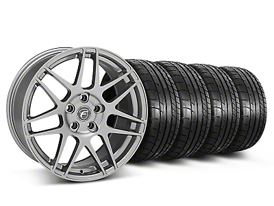 Forgestar Staggered F14 Monoblock Gunmetal Wheel & Mickey Thompson Tire Kit - 18x9/10 (05-14 All)