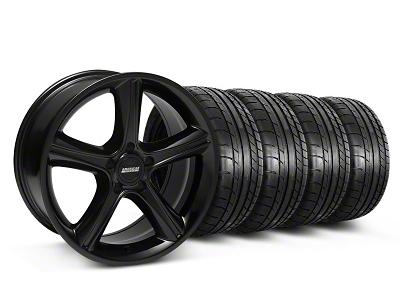 Staggered 2010 GT Premium Style Black Wheel & Mickey Thompson Tire Kit - 18x9/10 (05-14)