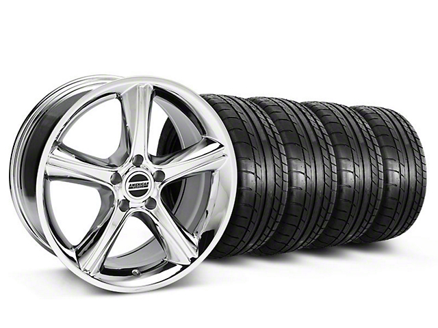 Staggered 2010 GT Premium Style Chrome Wheel & Mickey Thompson Tire Kit - 18x9/10 (05-14)