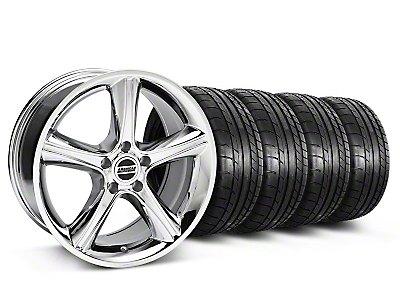 Staggered 2010 GT Premium Chrome Wheel & Mickey Thompson Tire Kit - 18x9/10 (05-14)