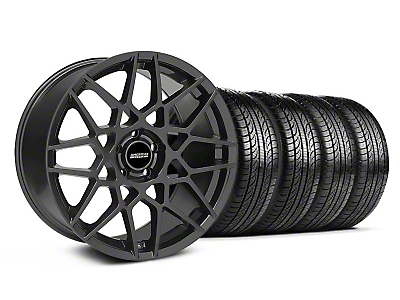 Staggered 2013 GT500 Charcoal Wheel & Pirelli Tire Kit - 19x8.5/10 (05-14 GT, V6)